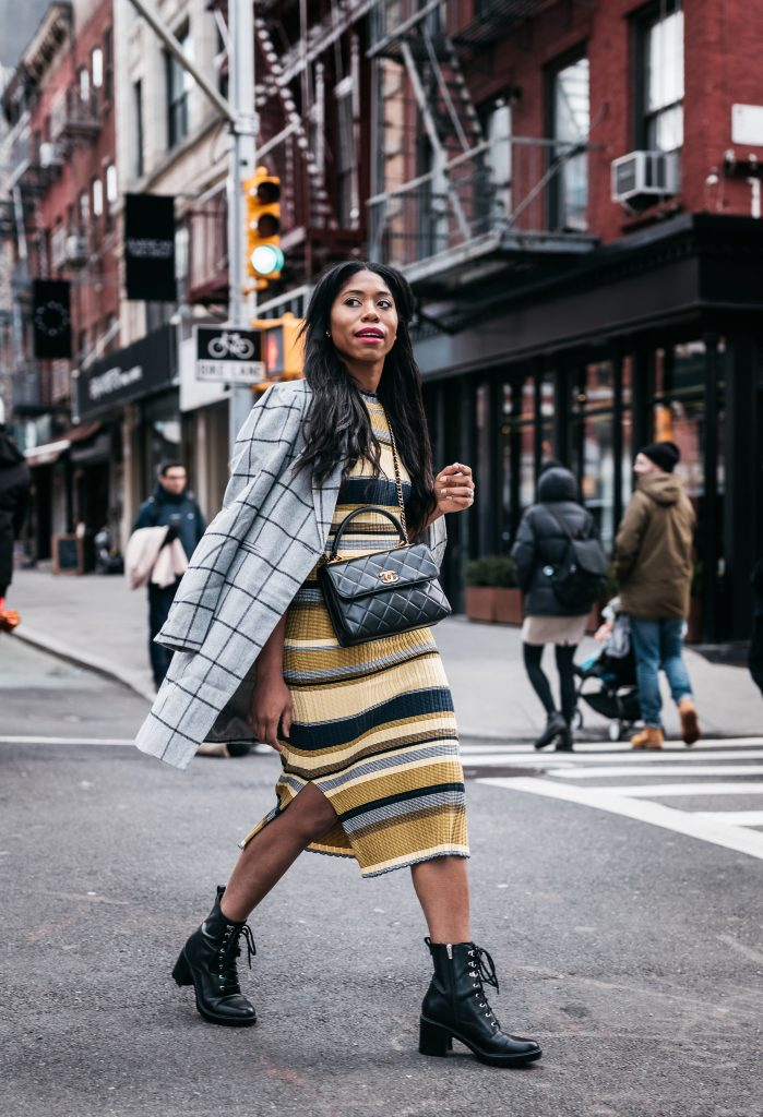 striped sweater dress dallas fashion blogger steph taylor jackson stephanie jackson new york fashion week street style fashion what to wear to new york fashion week